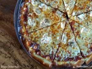 Paddy's Cafe Creamy Chicken Pizza