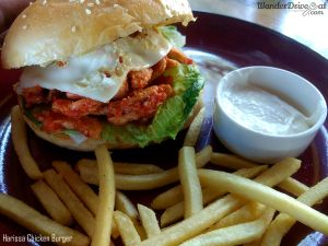 Paddy's Cafe Harissa Chicken Burger