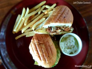 Paddy's Cafe Jerk Chicken Sandwich