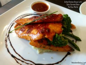The Flour Works grilles chicken breast