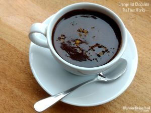 The Flour Works orange hot chocolate