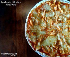 The Flour Works honey sriracha pizza