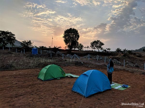 Nisargshala Camping Tent Sunrise