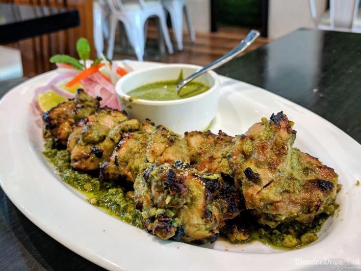 cafe wunderbar viman nagar wanderdriveeat thecha chicken kebab