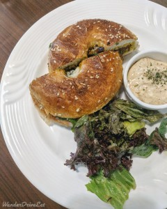 Butter Brews Cafe Chicken Gurkha Bagel