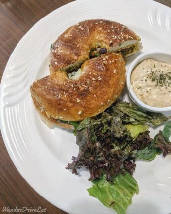 Butter Brews Cafe Chicken Gurkha Bagel