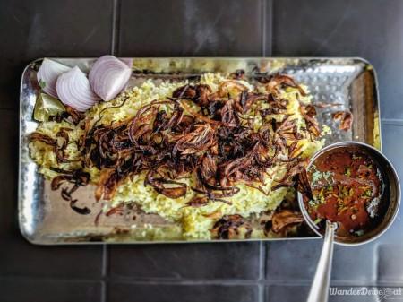 Saoji Khamang Baner WanderDriveEat Varhadi Chicken Biryani