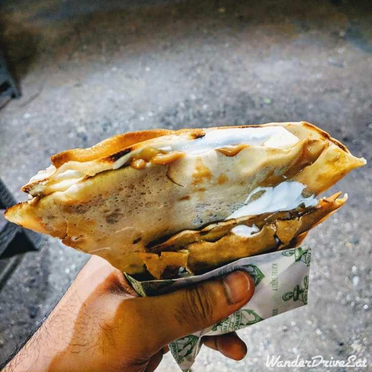 Nina Pinta Santamaria Food Truck Banoffee Crepe