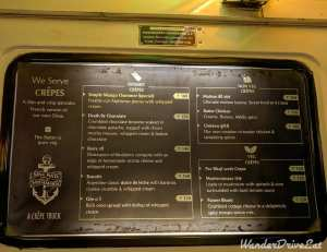 Nina Pinta Santamaria Food Truck Menu