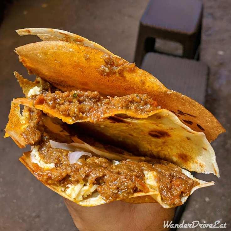Nina Pinta Santamaria Food Truck Mutton ki Baat Crepe