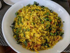 Fratelli Vineyards breakfast poha